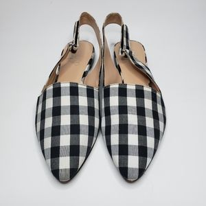 Franco Sarto Gingham Pointed Flats
